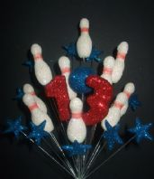 SKITTLES 13TH BIRTHDAY CAKE TOPPER DECORATION - RED, WHITE & BLUE - Free postage